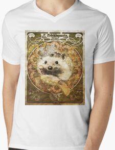 Cute Art Nouveau Hedgehog  Mens V-Neck T-Shirt