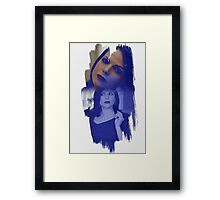 Regina Mills - brush effect Framed Print