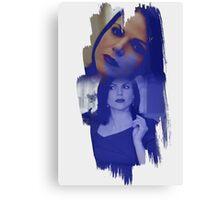 Regina Mills - brush effect Canvas Print