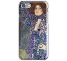 Gustav Klimt - Emilie Floege - Klimt -Woman Portrait iPhone Case/Skin