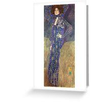 Gustav Klimt - Emilie Floege - Klimt -Woman Portrait Greeting Card