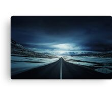 Long Icy Road Canvas Print