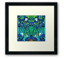 Van Gogh Garden Irises HDR Framed Print
