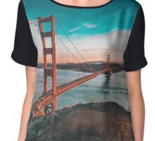 Golden Gate Bridge Chiffon Top