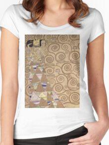 Gustav Klimt - Expectation - Klimt - Women's Fitted Scoop T-Shirt