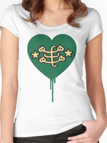BAHAI BLEEDING HEART Women's Fitted Scoop T-Shirt