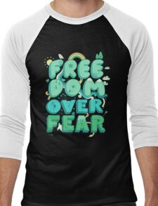 Freedom Over Fear Men's Baseball ¾ T-Shirt