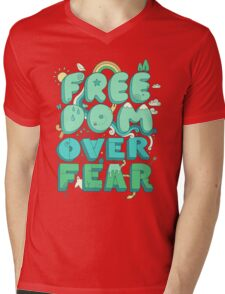 Freedom Over Fear Mens V-Neck T-Shirt
