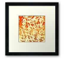 Falling Autumn Leaves Framed Print