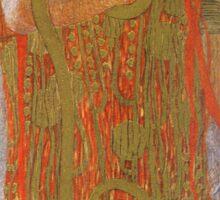 Vintage famous art - Gustav Klimt - Hygieia (Detail From Medicine) Sticker