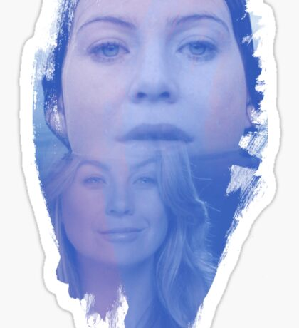 Meredith Grey -  brush effect Sticker