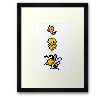 Beedrill Evolution Framed Print