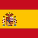 Spanish National Flag Stickers by Mark Podger