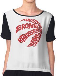 Toronto Raptors (Red) Chiffon Top