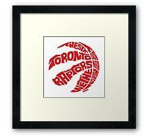 Toronto Raptors (Red) Framed Print