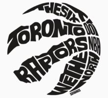 Toronto Raptors (Black) Kids Tee