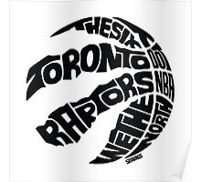 Toronto Raptors (Black) Poster