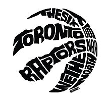 Toronto Raptors (Black) Photographic Print