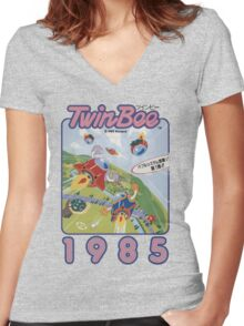 TwinBee Women's Fitted V-Neck T-Shirt