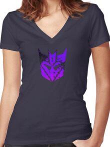 Deceptacon Women's Fitted V-Neck T-Shirt