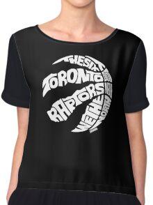 Toronto Raptors (White) Chiffon Top