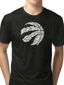 Toronto Raptors (White) Tri-blend T-Shirt