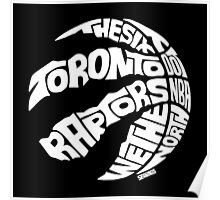 Toronto Raptors (White) Poster