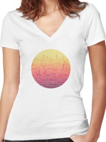 Skyline Women's Fitted V-Neck T-Shirt