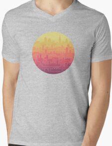 Skyline Mens V-Neck T-Shirt