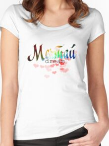 Мечтай dream russian colorful cosmic word quote design Women's Fitted Scoop T-Shirt