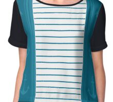Trendy Nautical Stripe Design Chiffon Top