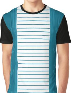 Trendy Nautical Stripe Design Graphic T-Shirt