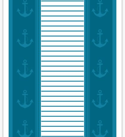Trendy Nautical Stripe Design Sticker