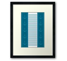 Trendy Nautical Stripe Design Framed Print