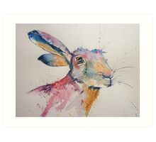 Happy Hare! Art Print