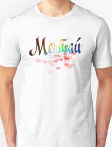 "Мечта russian word ""dream"" rainbow quote glitter design T-Shirt"