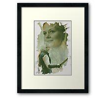 Emma Swan - brush effect Framed Print
