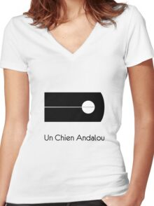 Un Chien Andalou alternative  movie poster Women's Fitted V-Neck T-Shirt
