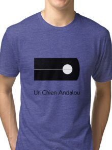 Un Chien Andalou alternative  movie poster Tri-blend T-Shirt