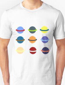 Ringed Planets 3x3 Grid T-Shirt