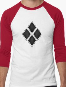 Harlequins and Stitches Rolling Around in Ditches Men's Baseball ¾ T-Shirt