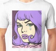 Purple Crying Comic Girl Unisex T-Shirt