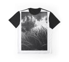 Texture Contrast Graphic T-Shirt