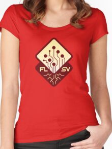 Faultline 40K Red Logo Women's Fitted Scoop T-Shirt