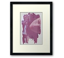 Kate Beckett - brush effect Framed Print