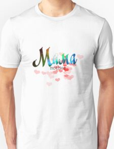Мама mother's day russian word design with colorful gradient glitter and sparkling T-Shirt