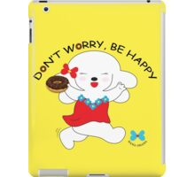 Don't worry, be happy- Yellow iPad Case/Skin