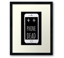 Dead Phone Framed Print