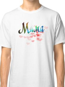 Mother russian word мама, mother's day gift, red hearts design Classic T-Shirt