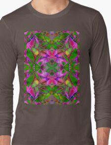 Floral Fractal Art Long Sleeve T-Shirt